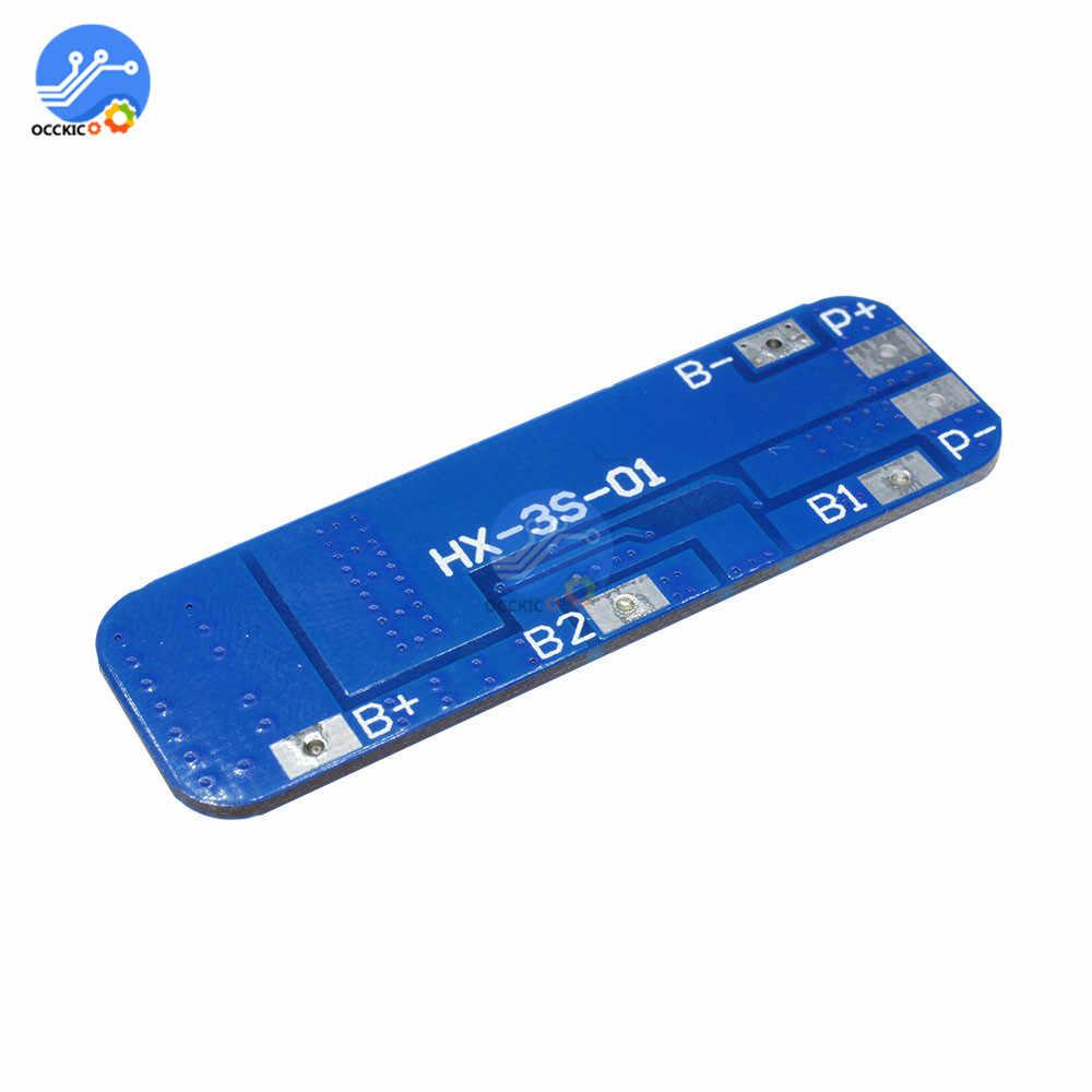 BMS 3S 18650 Charger Li-Ion Lithium Batterij Bescherming Boord Printplaat 10.8V 11.1V 12.6V 10A Dual functies Batterij Balancer