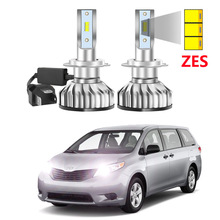 Car-Led-Headlight Toyota Sienna Super-Bright Auto for 2pcs Zes-Chips Car Led Low-Beam