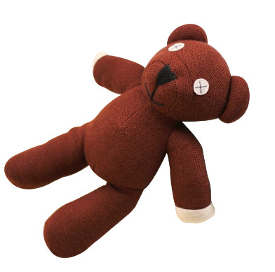 1pc 25/35cm <font><b>Mr</b></font> <font><b>Bean</b></font> Teddy Bear Animal Stuffed Plush Toy Soft <font><b>Cartoon</b></font> Brown Figure Doll Child Kids Gift Toys Birthday Gift image