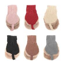 1 шт., креативный дизайн, винтажные шерстяные накладки на уши, милые, с галстуком, однотонные, удобные детские теплые наушники, вязаные, Осенние, зимние, теплые наушники