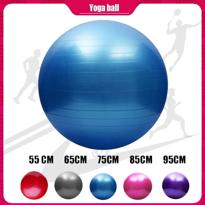 55/65/75/85/95 Cm Yoga Bal Pilates Fitness Balance Bal Gymnastiek Zwangere Vrouw Levering Oefening Fitness verloskunde Pvc Bal