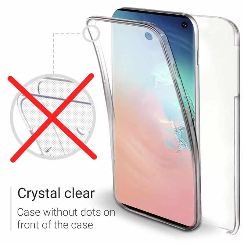 360 tam koruma kapağı kılıfları Samsung Galaxy A50 A30 A40 A70 A10 A8 A6 artı A9 2018 S9 S8 S10 artı not 9 8 10 S6 S7 kenar