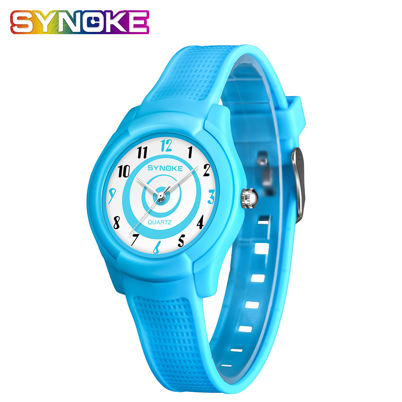 SYNOKE Ultra-thin Waterproof Children's Watches Fashionable Back Light Thin Concept Student Quartz Watch Boys Age Girls Watch