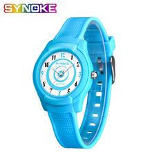 SYNOKE Ultra-thin Waterproof Children's Watches Fashionable Back Light Thin Conc