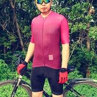 Pro Velo 2019 Pro Team Cycling Jersey Short Sleeve Set Red Gradient Triathlon Bike maillot ciclismo bicicleta roupa ciclismo set