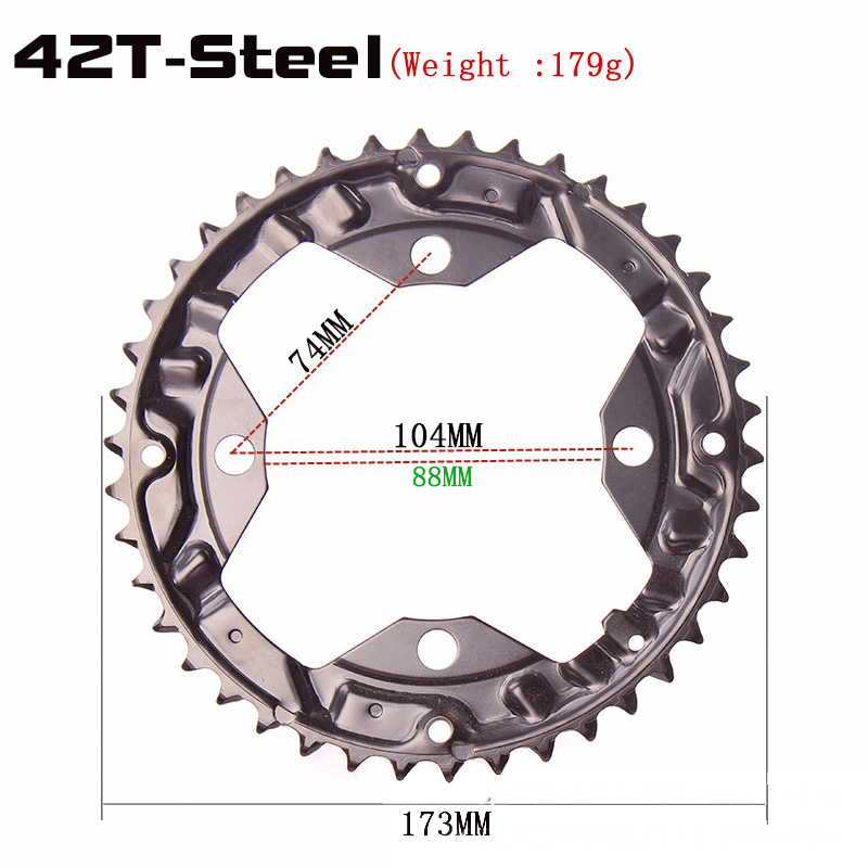 VNM 130BCD Road Bike Chainrings Round Narrow Wide 50//52//54//56//58//60T Chainrings