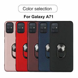 На Алиэкспресс купить чехол для смартфона for samsung galaxy a71 a51 case magnetic ring holder shockproof armor silicone cover for galaxy a21 a01 stand back coque fundas