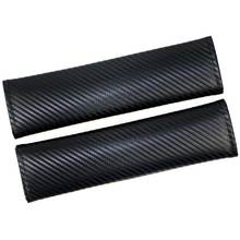 2 шт защитный чехол для ремня безопасности из углеродного волокна