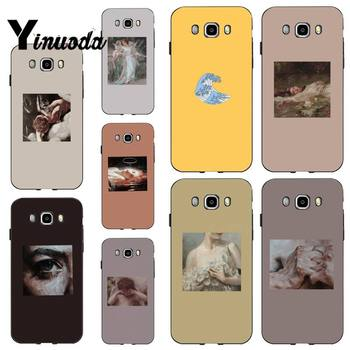 Yinuoda oil painting abstract aesthetic Black TPU Soft Phone Case for samsung a30 A30S a51 a50 a71 A40 A70 A21 A21S a11 a91 image