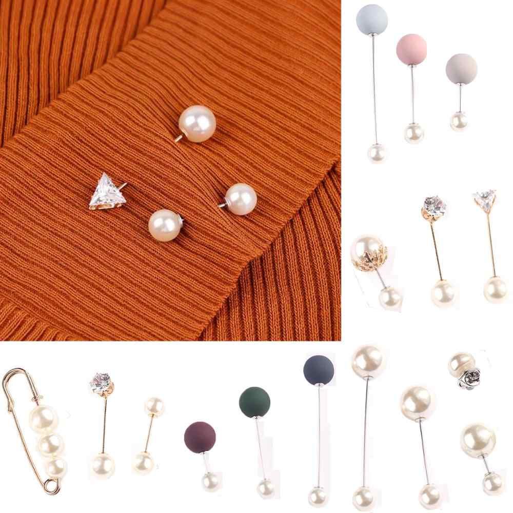 3Pcs/4Pcs Women's Fashion Brooch Set Pearl Brooch Pins Badge Sweater Coat Decorative Jewelry Pin Brooches for Women