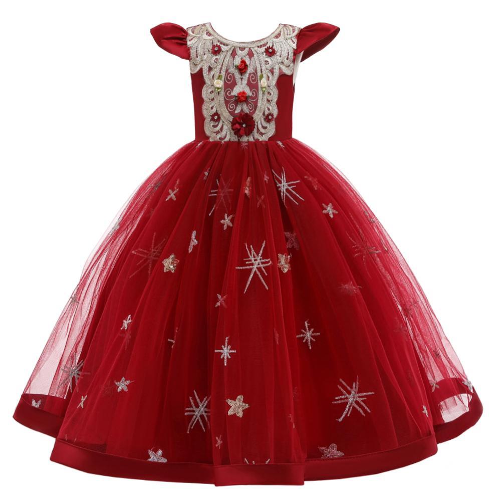 New Summer Princess Sleeveless Dress Girl's Wedding Dress  Girls' Partynoble Temperament dress 5 14yrs beautiful Clothes|Dresses| |  - title=