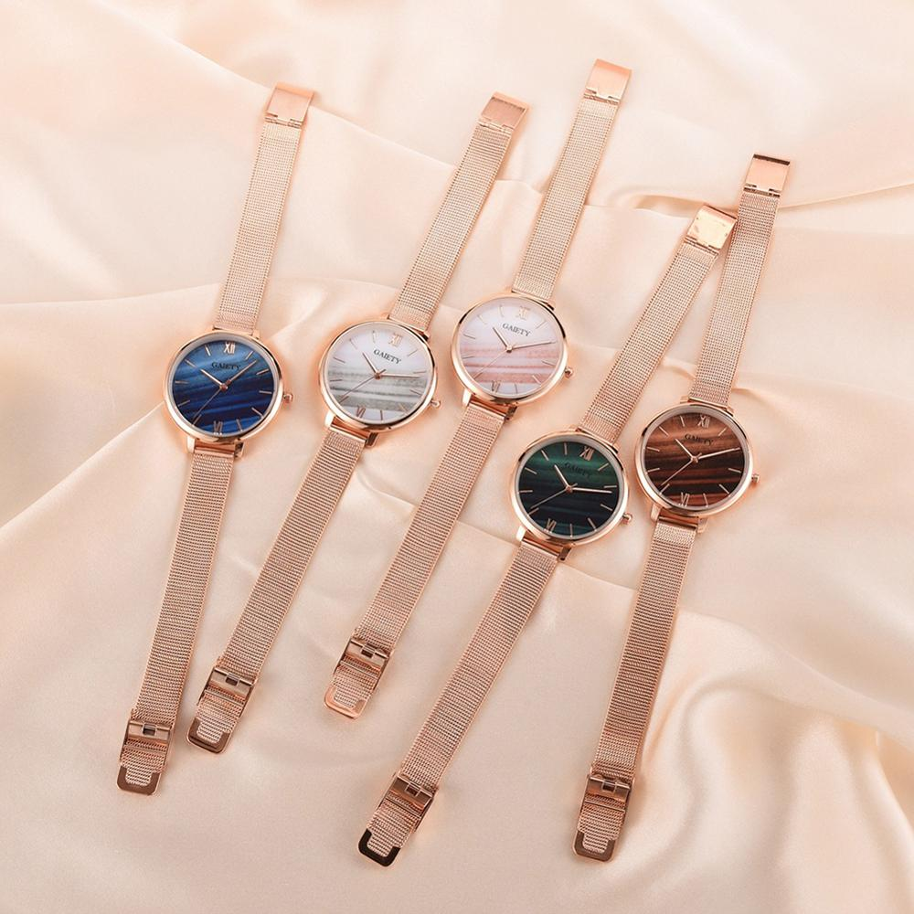 Fashion Wrist Watches For Women Quartz Wrist Watch Wrist Wristwatches Stylish Dial Mental Band  Wristwatch Ladies Watches