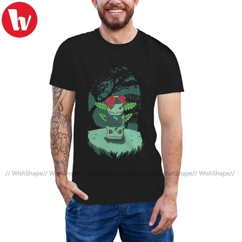 Pokedex T Shirt Earth Totem T-Shirt Male 5x Tee Shirt Graphic 100 Cotton Short Sleeves Fun Classic Tshirt image