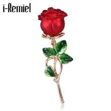 Новинка модная Элегантная Брошь в виде цветка розы корейский