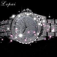 Damski zegarek kwarcowy modne bling damski zegarek damski złoty zegarek kwarcowy kryształowy diament dla kobiet zegar w Zegarki damskie od Zegarki na