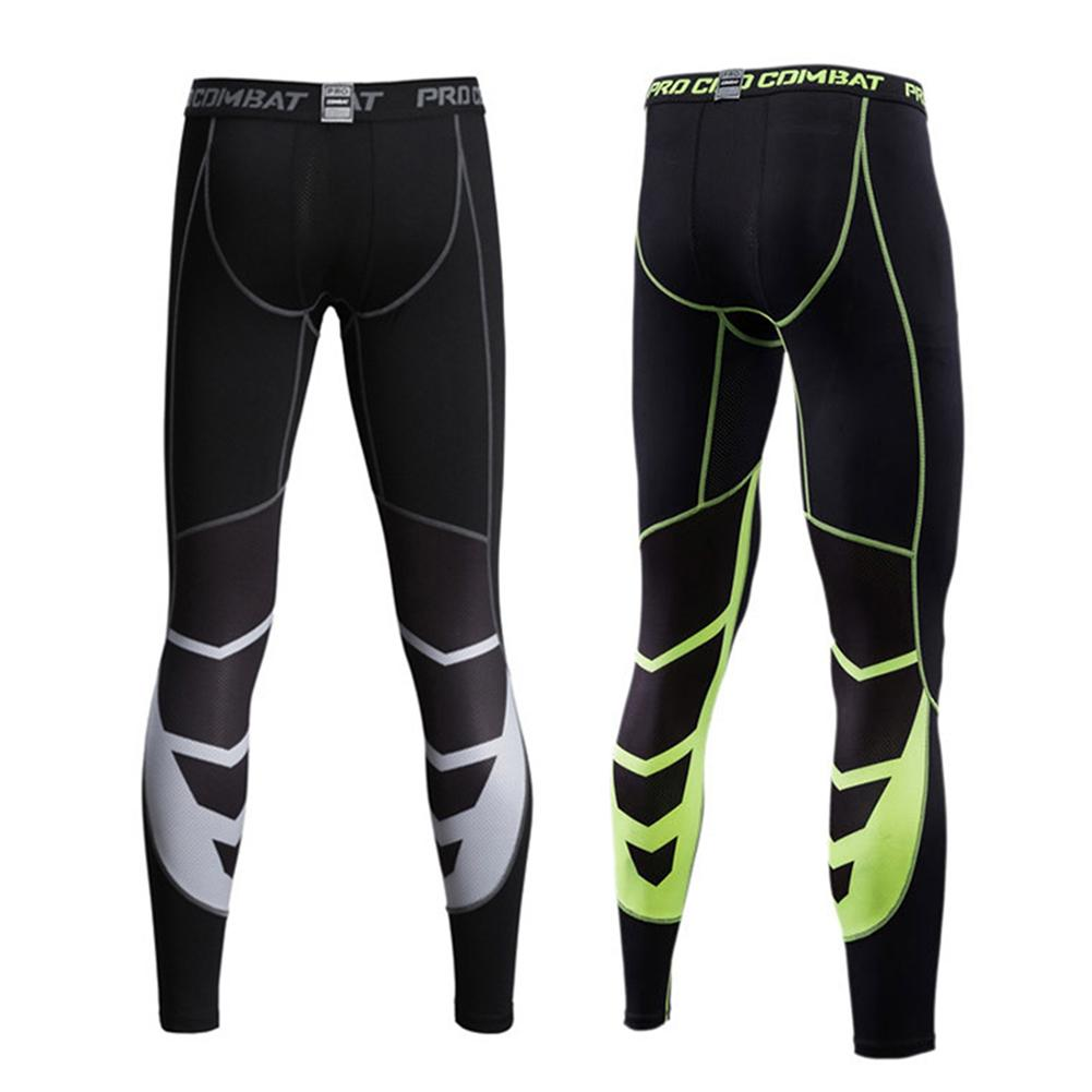 Leggings Men Pants Quick-drying Sports Fitness Running Tight Pants Stretchy Leggings Trousers Elastic Waist Sports Trousers