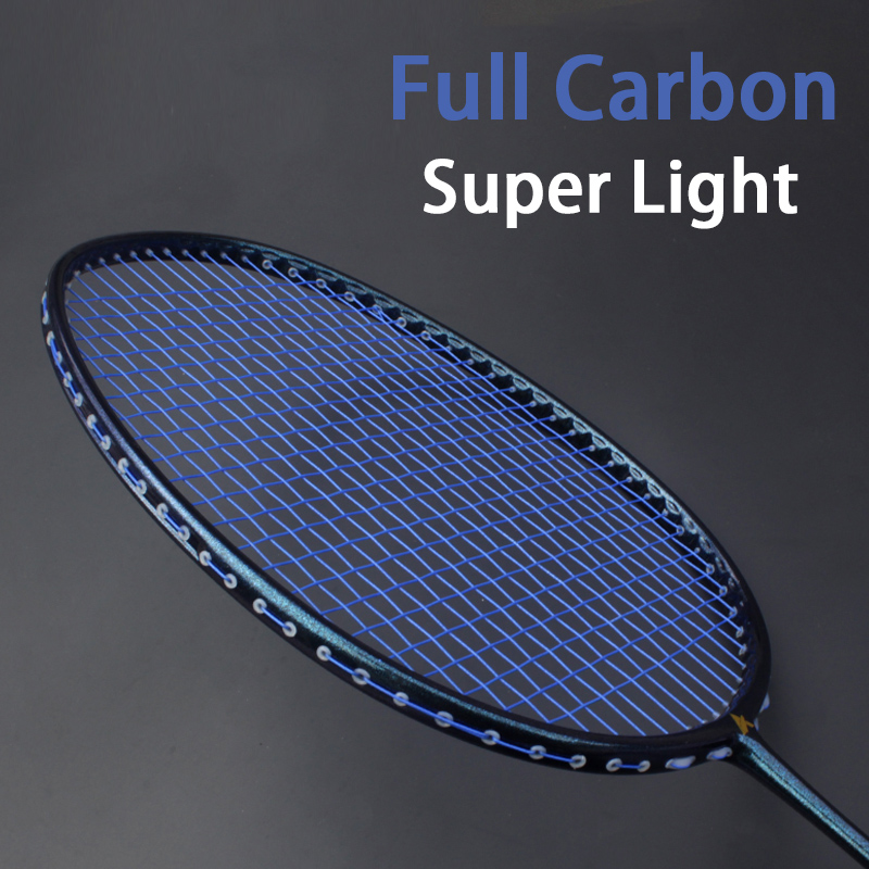 Ultralight 5U T700 Carbon Fiber Strung Badminton Racket With Strings Bag Professional Racquet Sports Force Padel