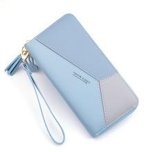 Geometric Women Wallets with Zipper Pink Phone Pocket Purse