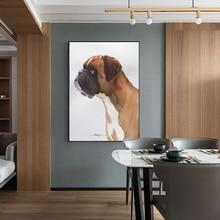 Современная Милая Собака Печать на холсте плакат, современные животные живопись настенные картины для гостиной мультфильм животных искусство Quadro домашний декор