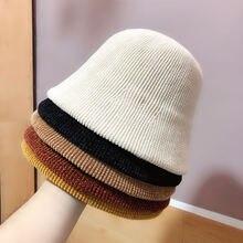 Ins оригинальный дизайн одноцветные шляпы ведра для женщин 5
