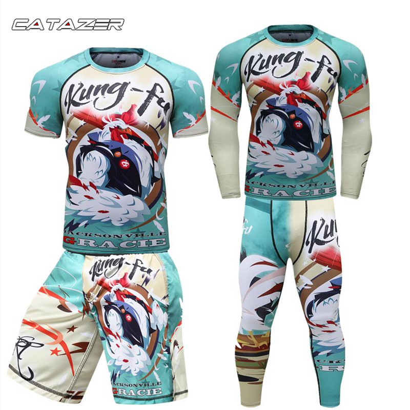 Rapture Men Boxing Tshirt+pants Muay Thai Shorts Mma Rashguard Sets Boxeo Fitness Sport Suits Jersey Jiu Jitsu Bjj Fightwear Dependable Performance