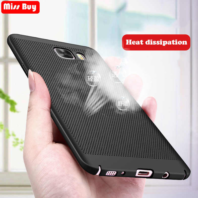 Warmteafvoer COOL PC Case Voor Samsung Galaxy C5 C7 C9 Pro J5 J7 Grand prime pro S9 S8 S7 rand Note 9 8 A8 A6 Plus 2018 Cover