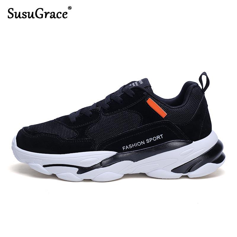 SusuGrace мужские кроссовки на плоской подошве, сетчатые кроссовки, дышащая обувь для спортзала, уличная спортивная обувь для бега, прогулочная ...