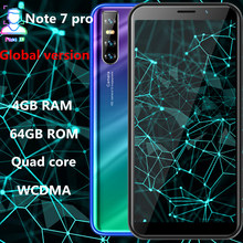 Note 7 Pro smartphones 4G RAM 64G ROM quad core grand écran 13mp visage ID débloqué android téléphones mobiles pas cher celulares 3G WCDMA