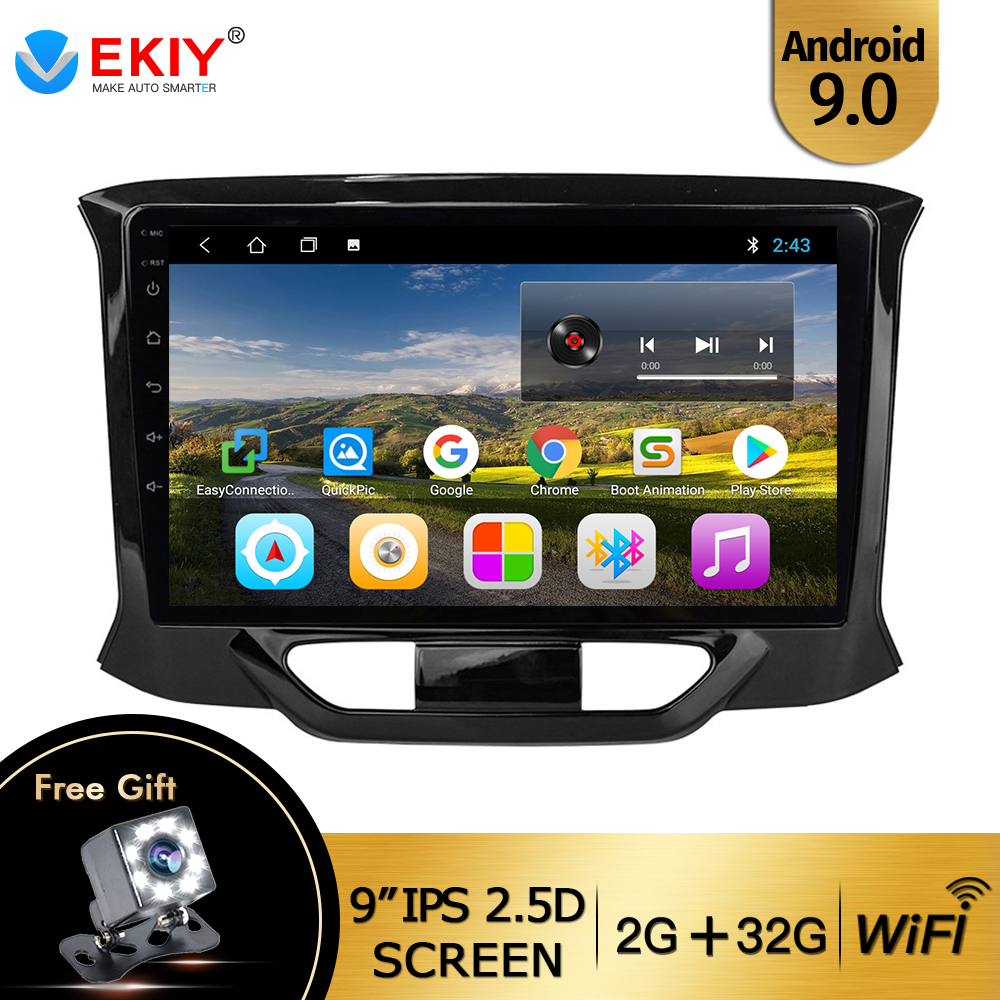 EKIY 9'' IPS Car Radio For LADA X Ray Xray 2015-2019 Car Radio Multimedia Video Player Navigation GPS Android 9.0 No 2din Dvd image