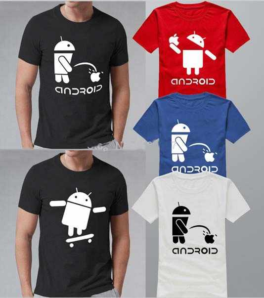 Mode Männer T Shirts Android Roboter Männlichen t-shirt humor logo gedruckt lustige t shirt kurzarm Rundhals Ringer Tees