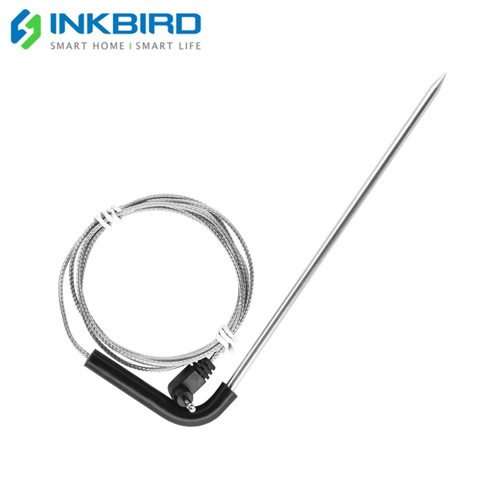 Inkbird Food Cooking Oven Meat Grill BBQ Stainless Steel Probe for Wireless BBQ Thermometer Meat Probe for IBT 2X|Temperature Instruments| |  - title=