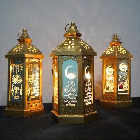led eid al adha luz da noite muculmano islam luces led decoracao da lampada ramadan