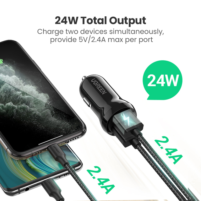 Ugreen – Autolaturi Quick Charge 3.0