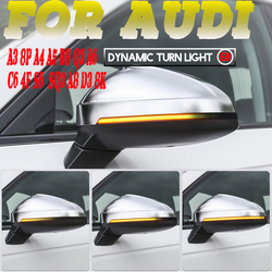 Flowing LED Side Wing Rearview For Audi A3 8P A4 A5 B8 Q3 A6 C6 4F S6 SQ3 A8 D3 8K A4 B8.5 RS5 Mirror Dynamic Indicator Blinker