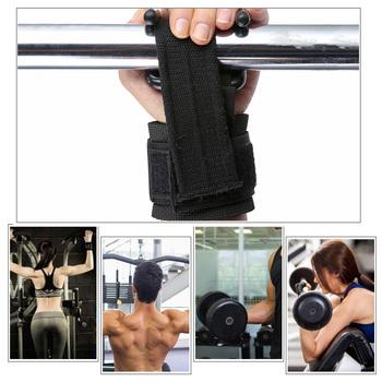 Podnoszenie ciężarów haki do podnoszenia hak do podnoszenia ręczny pasek Fitness opaski na nadgarstek Heavy Duty Pull-up uchwyty do podnoszenia mocy wyściełany haczyk do ćwiczeń tanie i dobre opinie Unisex CN (pochodzenie) Ciało Other Lifting