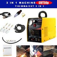 Cut50p piloto arco cnc plasma cortador & accessoires 1-15mm 50a dc inversor ar plasma máquina de corte 110/220v
