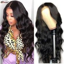 Perucas de cabelo humano da parte dianteira do laço da onda do corpo perucas de cabelo humano pre-arrancadas perucas de cabelo humano da parte dianteira do laço para preto feminino rmey