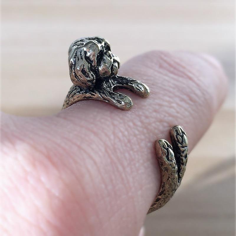 Купить gsky 1 шт новое регулируемое модное кольцо shih tzu свободного