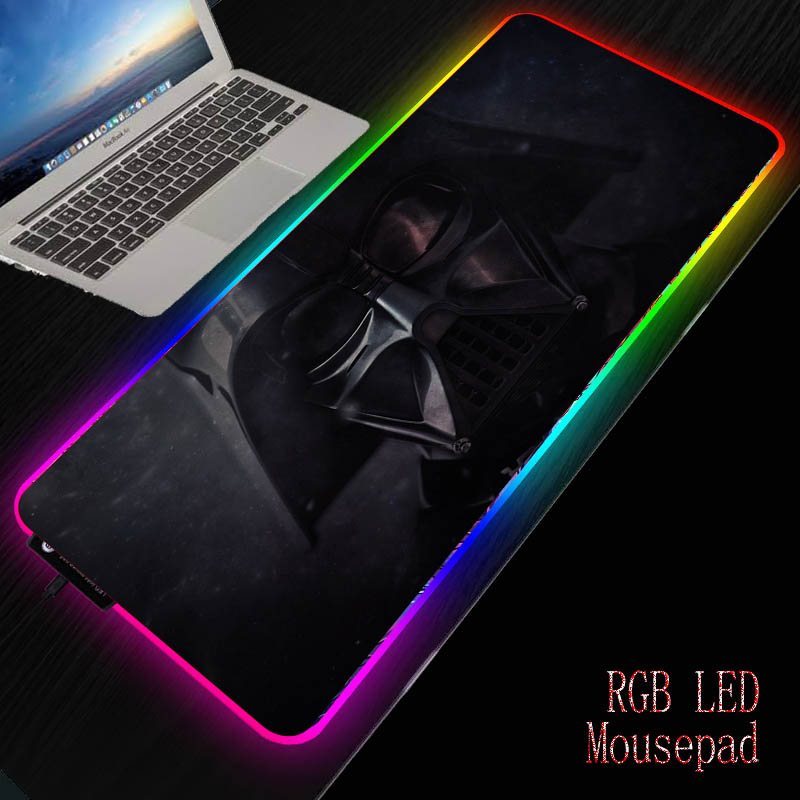 Mairuige DIY Colorful Gaming RGB LED Light Mouse Mat Natural Rubber Computer Soft Mousepad Star War Mouse Pad Keyboard Desk Mat 1