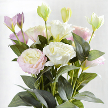 Artificial Flower Eustoma Fake Flowers Gradiflorus Lisianthus Christmas Wedding Party DIY for Home Darden Decoration 3 Heads