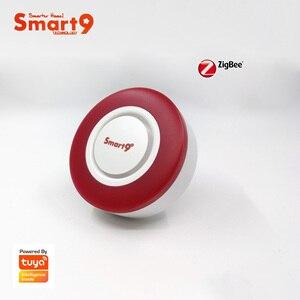 Image 3 - Smart9 ZigBee Alarm Hooter współpracuje z hubem TuYa ZigBee, inteligentną syreną z automatyką dźwięku i latarka przez Smart Life App