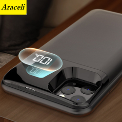 Dla Iphone X XS XR XS Max 11 11 Pro 11 Pro Max ładowarka etui inteligentny telefon pokrywa wyświetlacz cyfrowy Power Bank