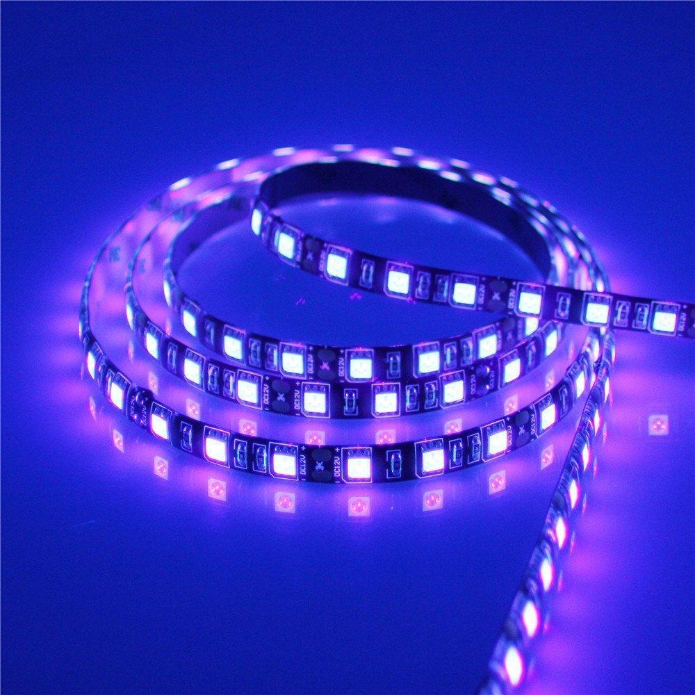Uv Led Strip Light Banknote Verification Tape Lamp Aquarium Nail Disinfection Body Painting 5050 12V Ultraviolet Lights Flexible