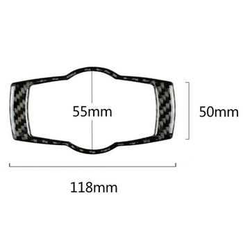 Carbon Fiber Headlight Switch Frame Trim *1 For BMW 3 Series E90 E92 E93 2005-12 image
