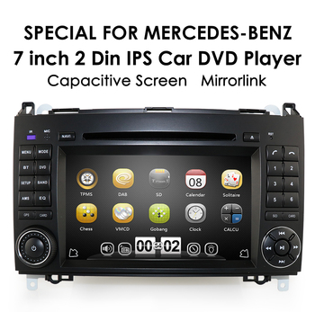 IPS Car DVD Multimedia Player GPS 2 Din for Mercedes Benz B200 B-class 2006-2014 W245 Sprinter A200 W169 Radio USB RDS STEREO image