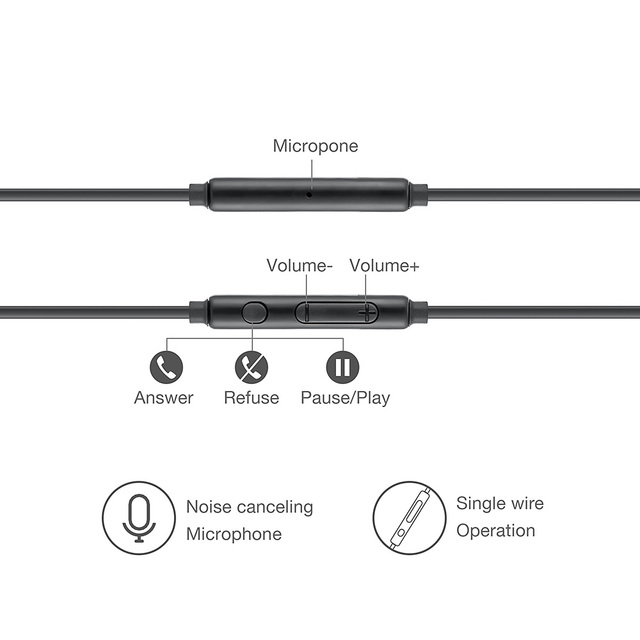 Wired Earphones 3.5mm Stereo No bluetooth Headphone  Music Sport Headset with Microphone for Samsung Xiaomi Mi 9 Huawei Hot Sale 3