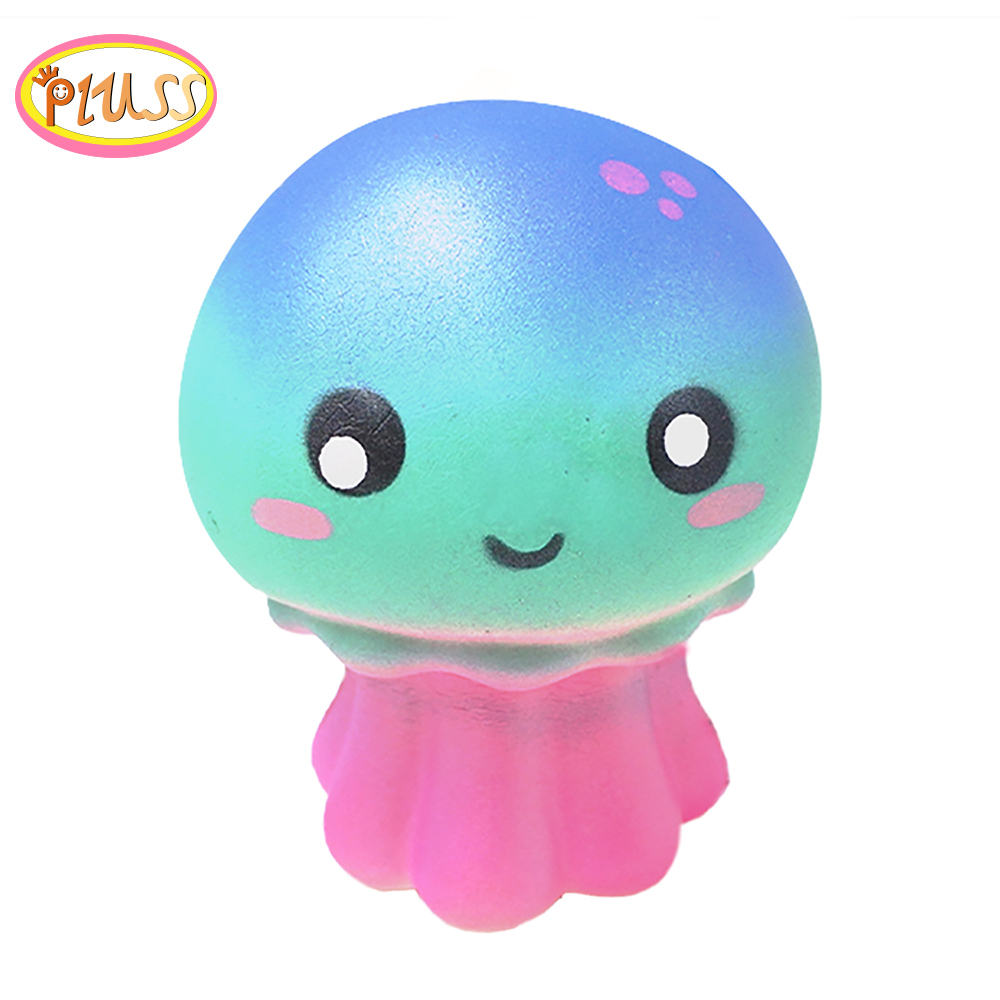 Squishy Animals Anti Stress Soft Kawaii Squishies Slow Rising Squeeze Jellyfish Sqishy Scented Mochi Cute PU Toys