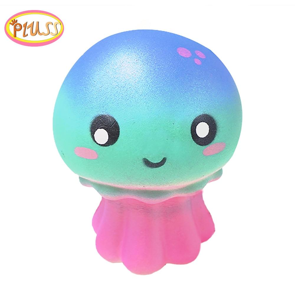 Squishy Animals Anti Stress Soft Kawaii Squishies Slow Rising Squeeze Jellyfish Sqishy Scented Mochi Cute PU Toys