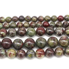 цены New Arrival Natural Dragon Bloodstone Stone Round Loose Beads For Jewelry Making Bracelet 15