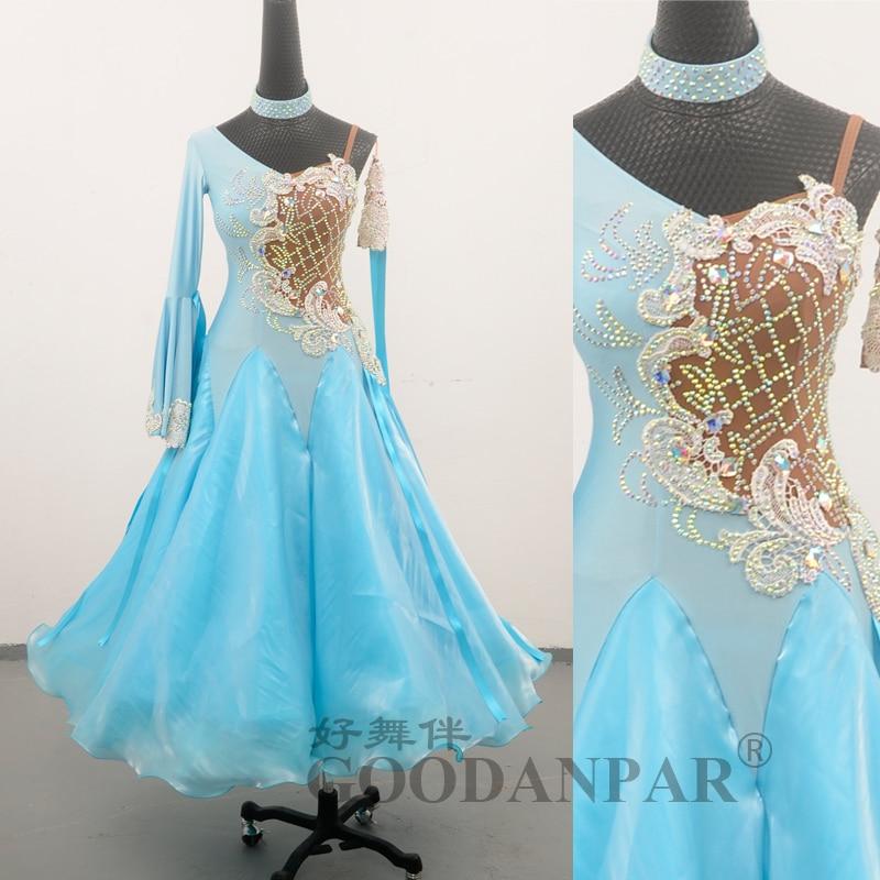 Costume Competition Modern Waltz Tango Ballroom Dance Dress, Smooth Standard Ballroom Dress,dance Skirt,long Sleeve,Lady's